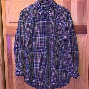 Men's L Polo Ralph Lauren plaid button down shirt